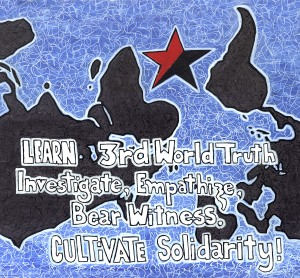 ANARCHIST ART - ( 3RD THIRD WORLD SOLIDARITY ANTI- WAR POSTER) -SHARE - USE - DIY - HiRes