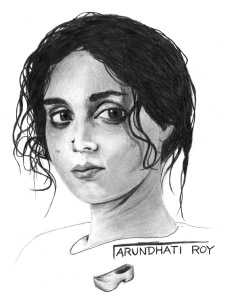 ANARCHIST ART - (ARUNDHATI ROY PORTRAIT) -SHARE - USE - DIY - HiRes - woodenshoe