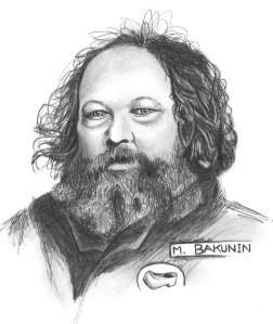 ANARCHIST ART - (BAKUNIN PORTRAIT) -SHARE - USE - DIY - HiRes - woodenshoe