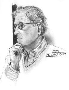 ANARCHIST ART - (CHOMSKY PORTRAIT) -SHARE - USE - DIY - HiRes - woodenshoe