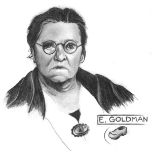 ANARCHIST ART - (EMMA GOLDMAN PORTRAIT) -SHARE - USE - DIY -  HiRes - woodenshoe