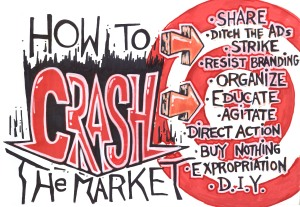 ANARCHIST ART - (HOW TO CRASH THE MARKET -  ANTI- CAPITALISM POSTER) -SHARE - USE - DIY - HiRes