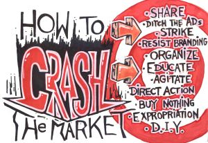 ANARCHIST ART - (HOW TO CRASH THE MARKET -  ANTI- CAPITALISM POSTER) -SHARE - USE - DIY - LowRes