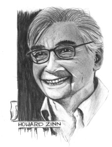 ANARCHIST ART - (HOWARD ZINN PORTRAIT) - SHARE - USE - DIY - HiRes - woodenshoe