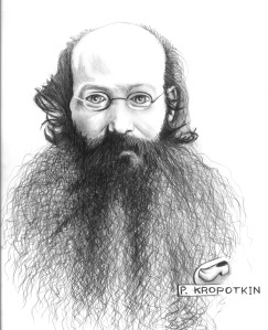ANARCHIST ART - (KROPOTKIN PORTRAIT) -SHARE - USE - DIY - HiRes - woodenshoe