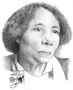 ANARCHIST ART - (LUCY PARSONS PORTRAIT) -SHARE - USE - DIY - HiRes - woodenshoe