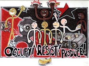 ANARCHIST ART - (OCCUPY! RESIST! PRODUCE!) -SHARE - USE - DIY - HiRes - woodenshoe