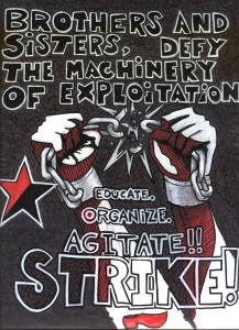 ANARCHIST ART - (STRIKE!!) -SHARE - USE - DIY - HiRes - woodenshoe