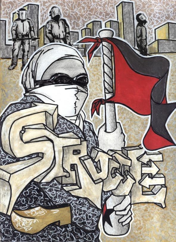 ANARCHIST ART - (STRUGGLE) -SHARE - USE - DIY - HiRes - woodenshoe