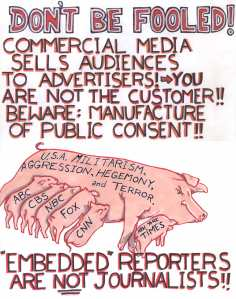 ANARCHIST - LEVELER-ART- (DONT BE FOOLED!! CORPORATE MEDIA - MANUFACTURE OF CONSENT) -SHARE - USE